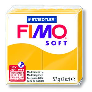 PATE A CUIRE FIMO SOFT PAIN DE 57GR JAUNE SOLEIL K752921 - S